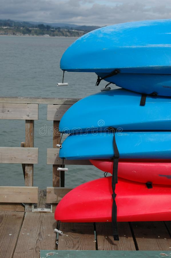 Download Sea kayaks on a pier stock photo. Image of pier, wharf - 567878