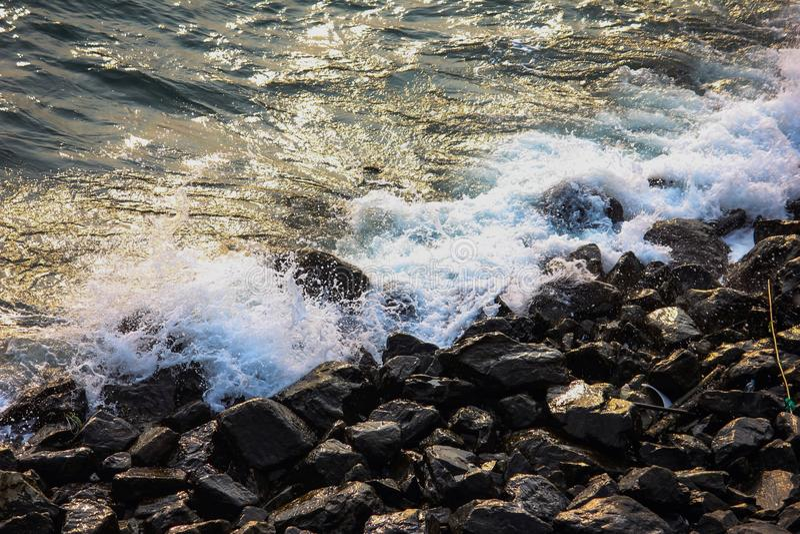 Sea at Kho Srichang stock image