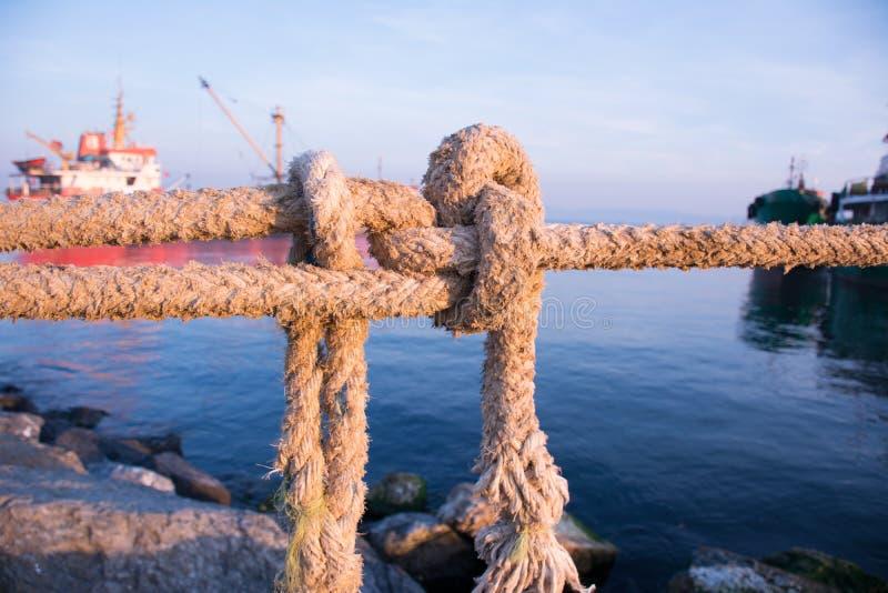 Sea knot close-up stock photo