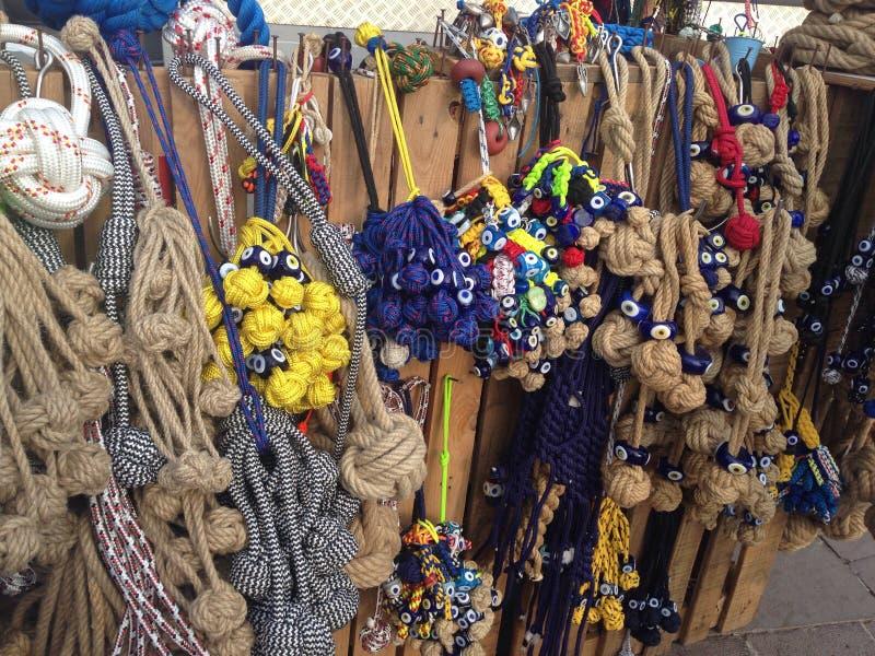 Sea knots. Beautiful colorfull sea knots royalty free stock images