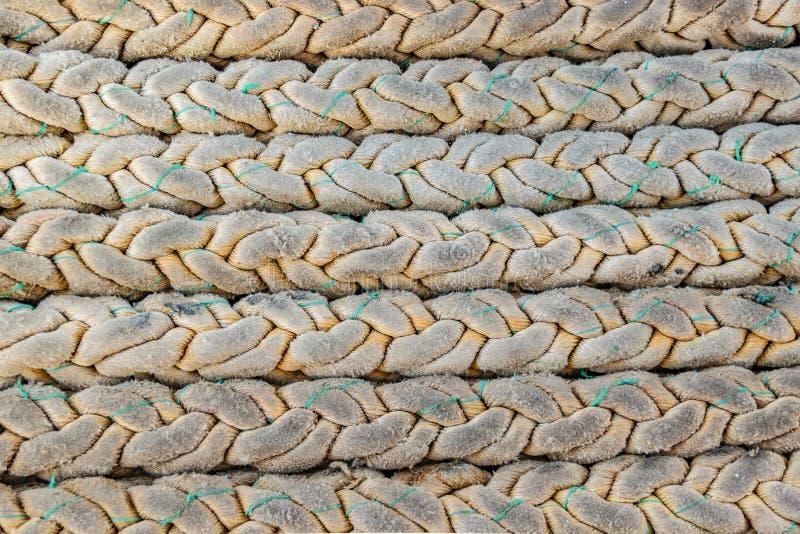 Sea Knots Ship Background Pattern. Close up sea knots ship background pattern photo stock image