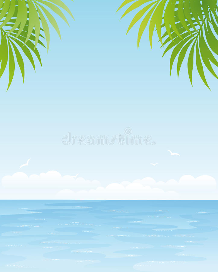 Download Sea landscape stock vector. Illustration of peace, green - 13673733