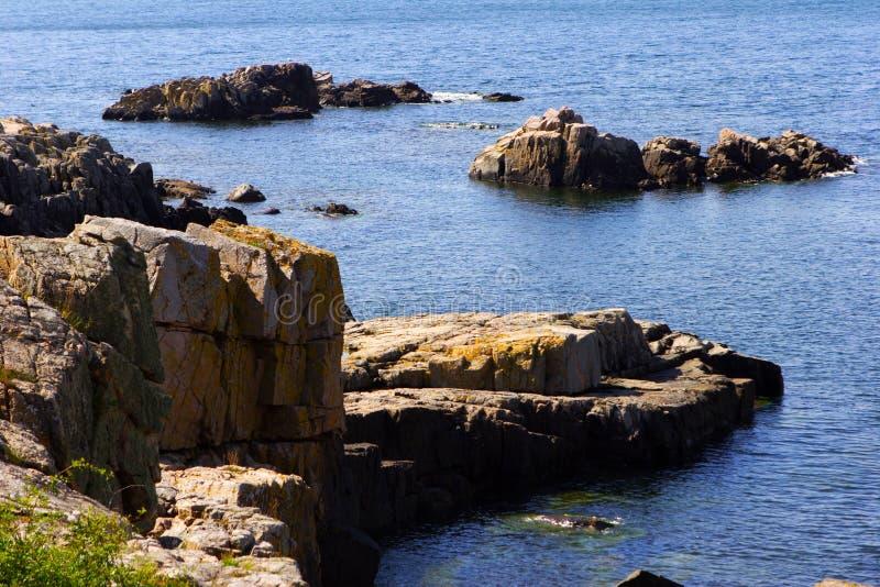 Sea landscape. With rocky granite coast stock photos