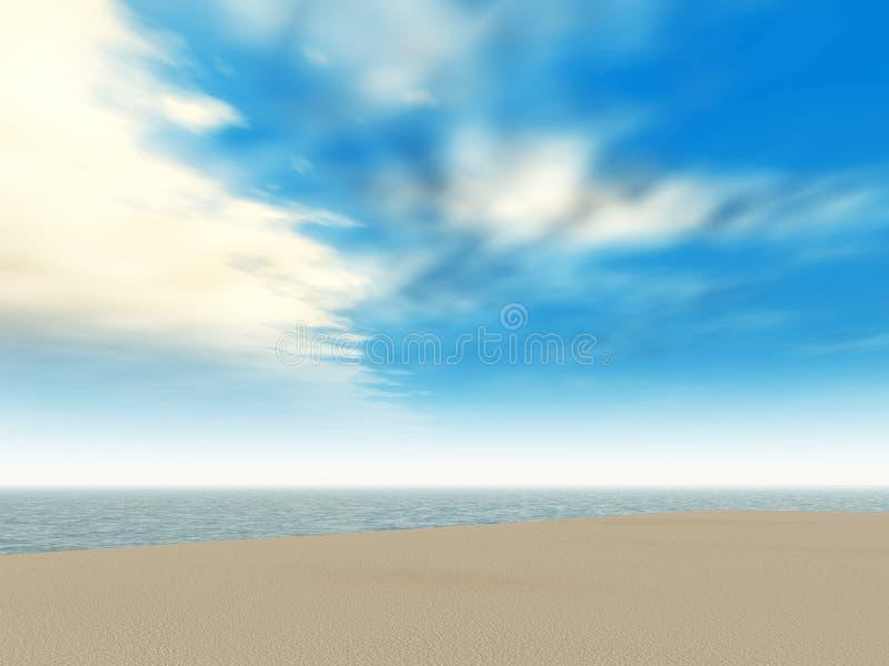 Download Sea landscape stock illustration. Image of color, background - 592650