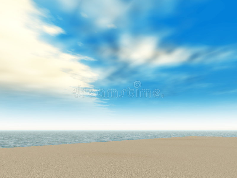 Sea landscape royalty free illustration