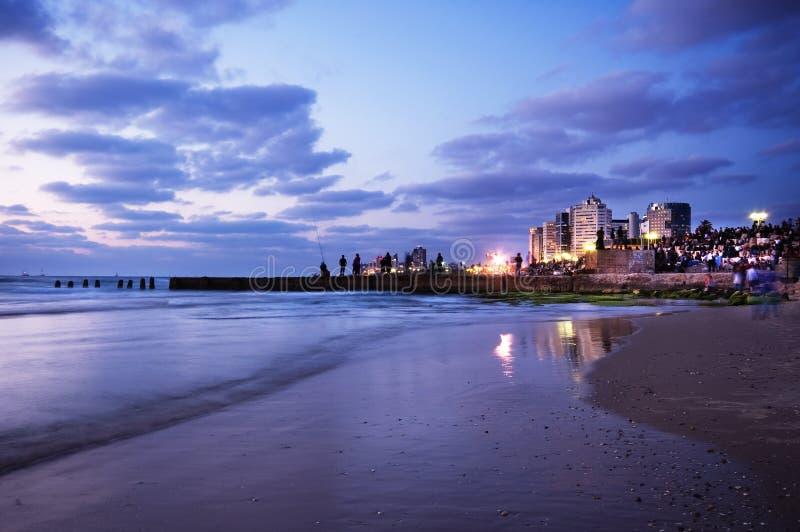 Sea landscape and city stock photo