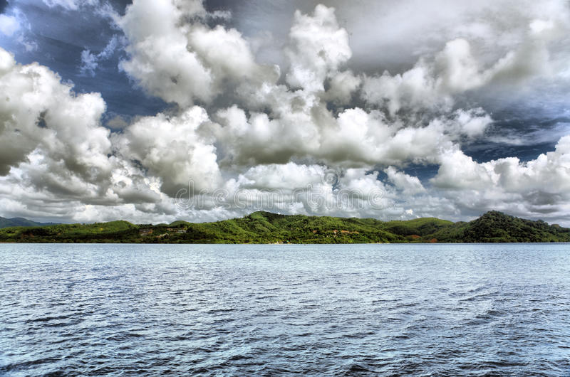 Sea landscape with clouds royalty free stock images