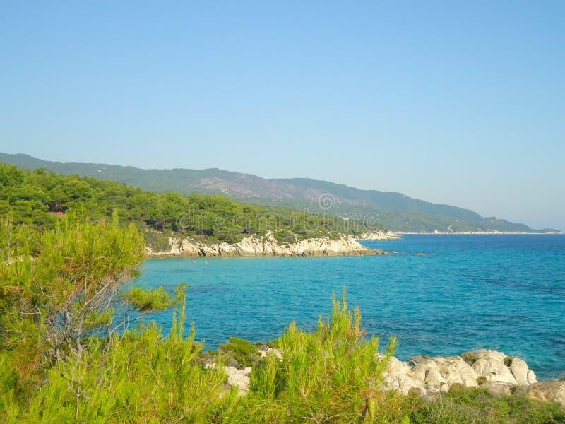 Sea landscape in Greece, Europe stock photo