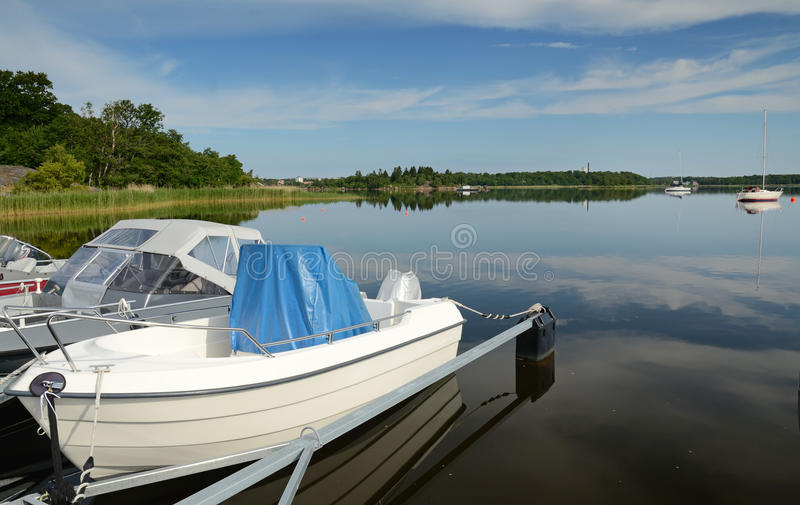 Download Sea landscape from harbor stock photo. Image of horizon - 25554778