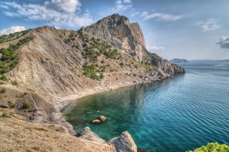 Download Sea landscape with rocks stock image. Image of foliage - 30375661