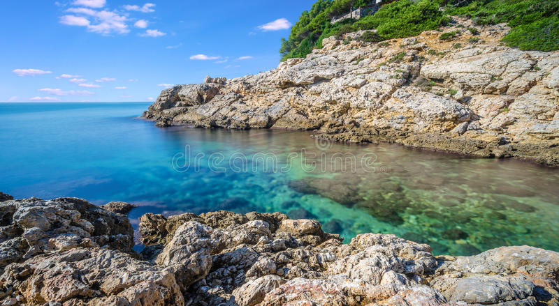 Sea Landscape Salou. Sea Landscape from Faro Salou, Province of Tarragona , Spain stock images