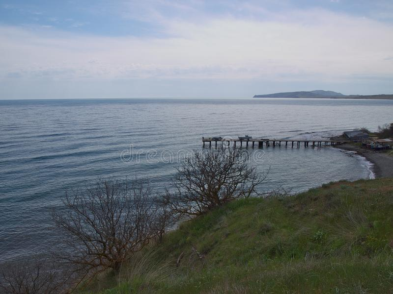 Sea landscape in Kurortnoe Crimea Russia royalty free stock images