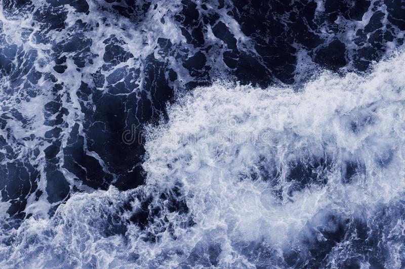 Sea Level View from Above. Ocean Surface with Waves stock image