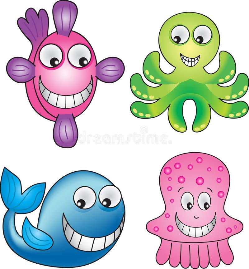 Download Sea life 1 stock vector. Illustration of marine, fish - 13235238