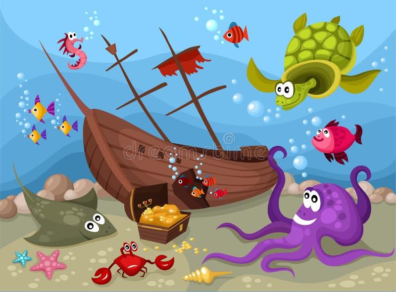 Sea life royalty free illustration