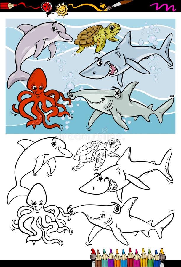 Download Sea Life Animals Cartoon Coloring Book Stock Vector - Image: 43268328