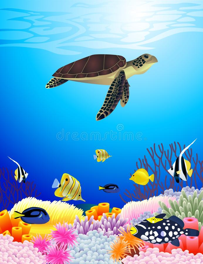 Download Sea life background stock vector. Illustration of comic - 20403512