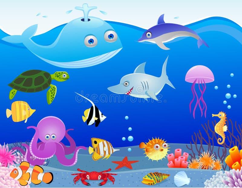 Download Sea life cartoon stock vector. Image of illustration - 20543958