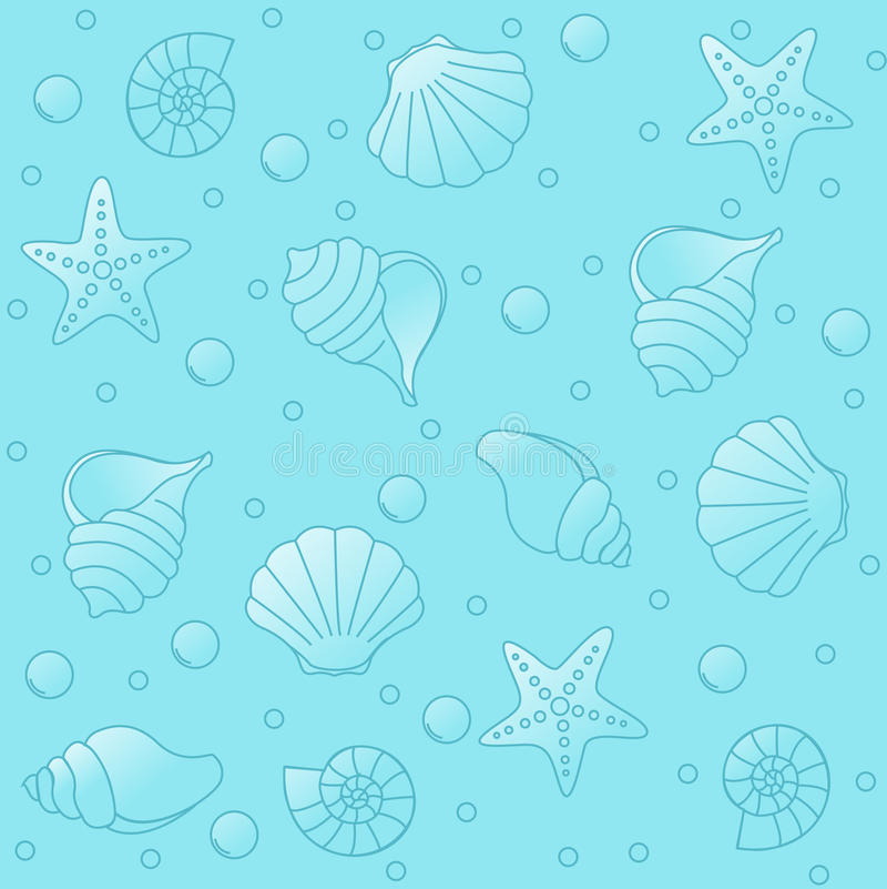 Sea life pattern royalty free illustration