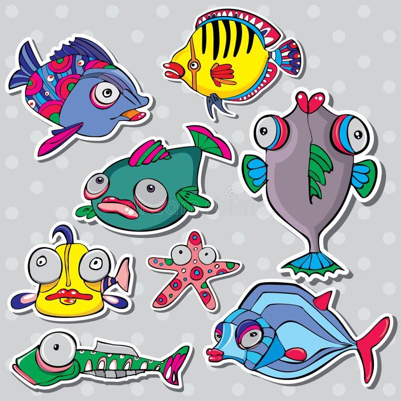 Sea life vector set