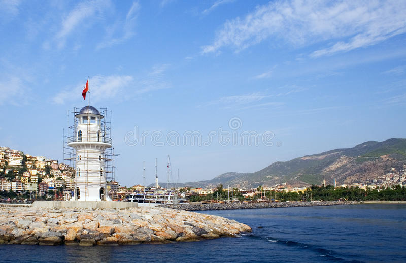 Sea lighthouse royalty free stock photo