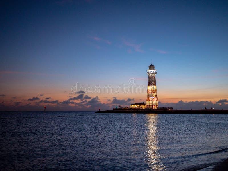 The sea lighthouse stock photo