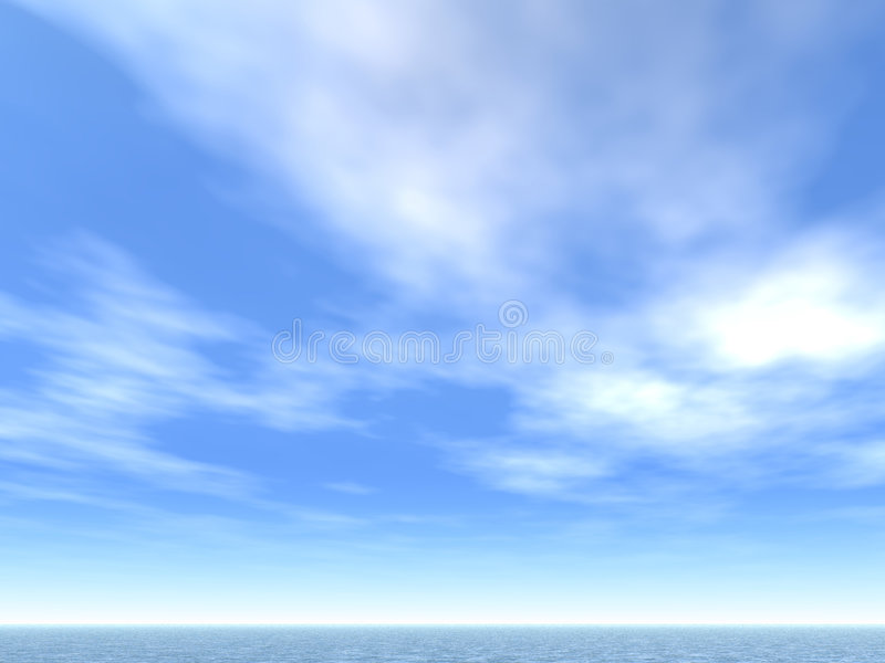 Download Sea-line and clouds stock illustration. Image of nature - 574440