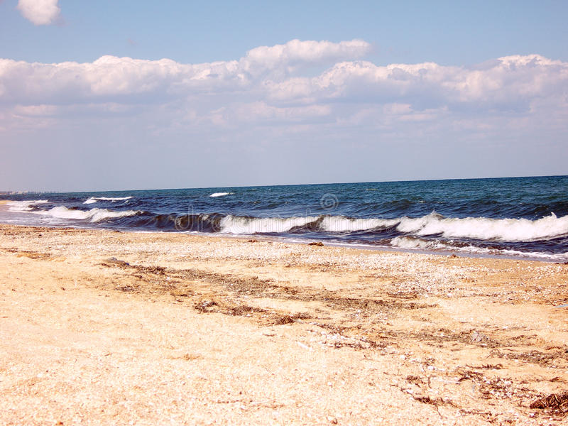Sea line royalty free stock photography