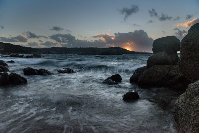Sea Maddalena island stock photos