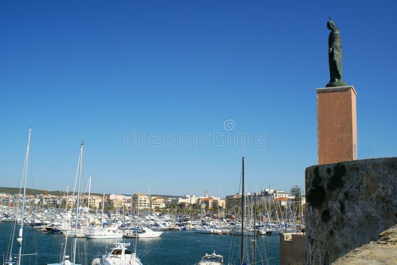 Sea Madonna's statue. stock photography