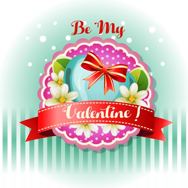 Sea mi jazmín de la tarjeta de la tarjeta del día de San Valentín libre illustration