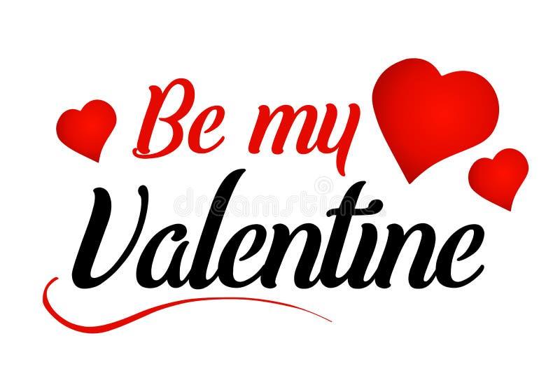 Sea mi mensaje de la tarjeta del día de San Valentín foto de archivo