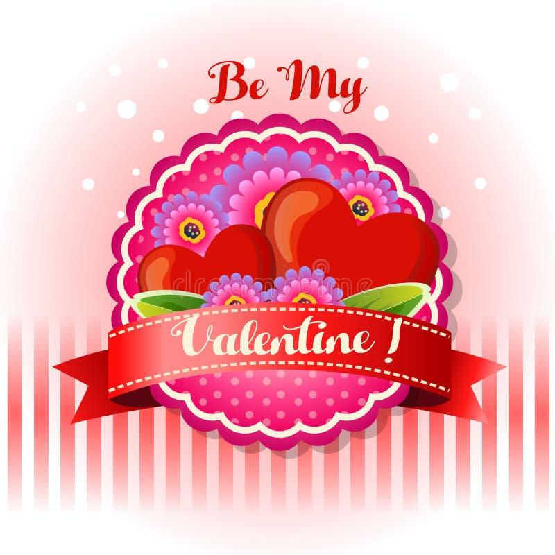 Sea mi tarjeta de la tarjeta del día de San Valentín libre illustration
