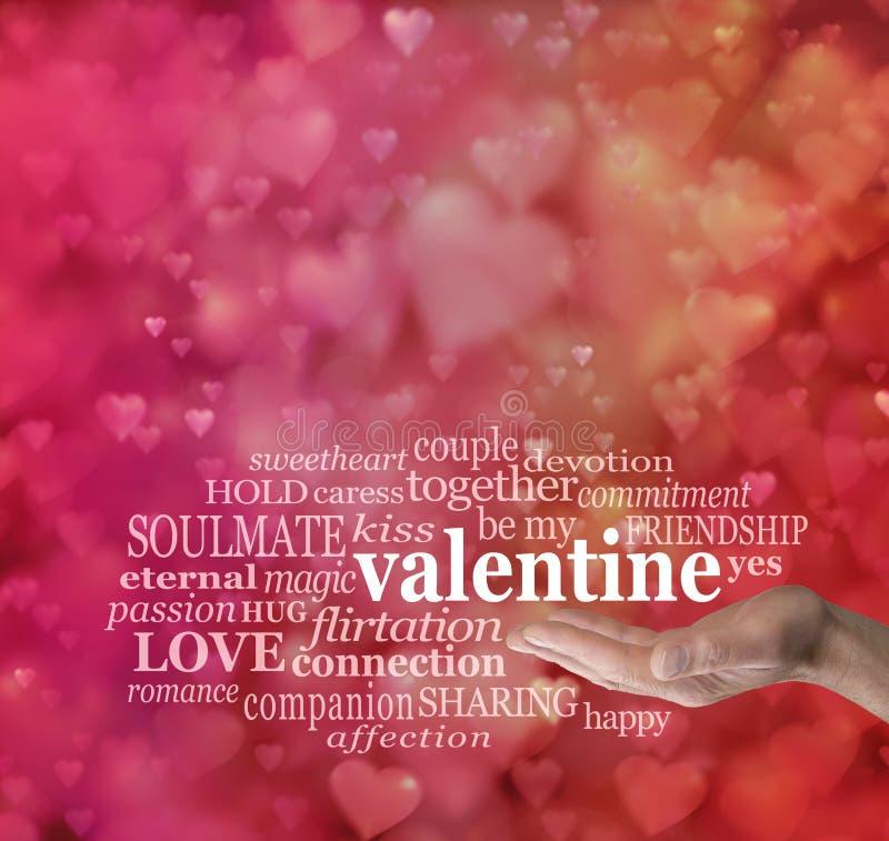 Sea mi tarjeta del día de San Valentín ilustración del vector