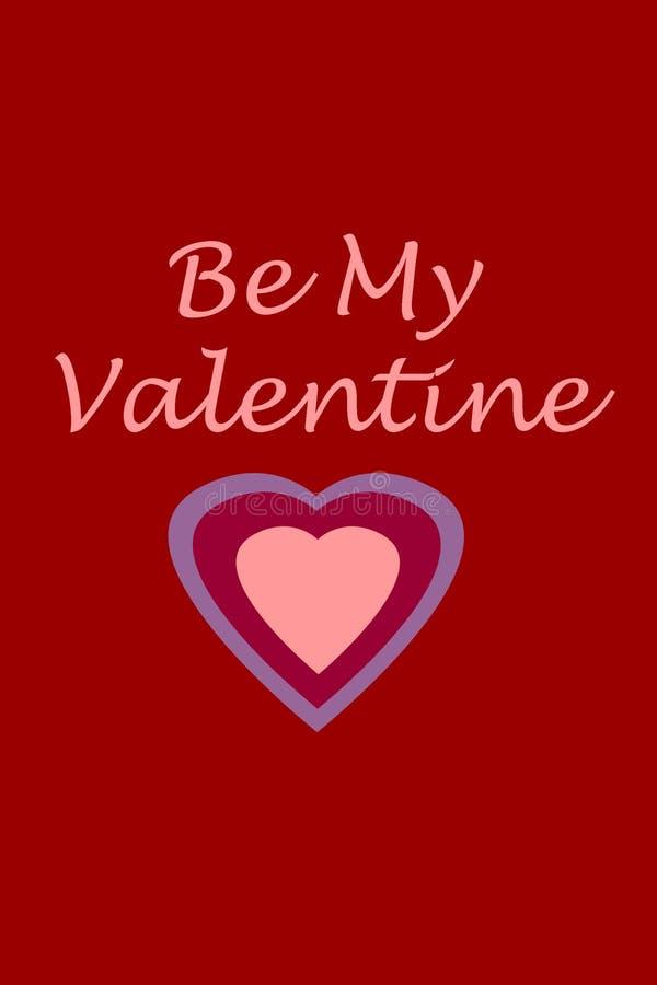 Download Sea Mi Tarjeta Del Día De San Valentín Stock de ilustración - Ilustración de rojo, valentine: 7279232