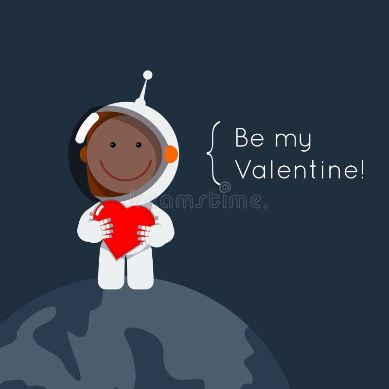 Sea mi tarjeta del día de San Valentín cósmica ilustración del vector