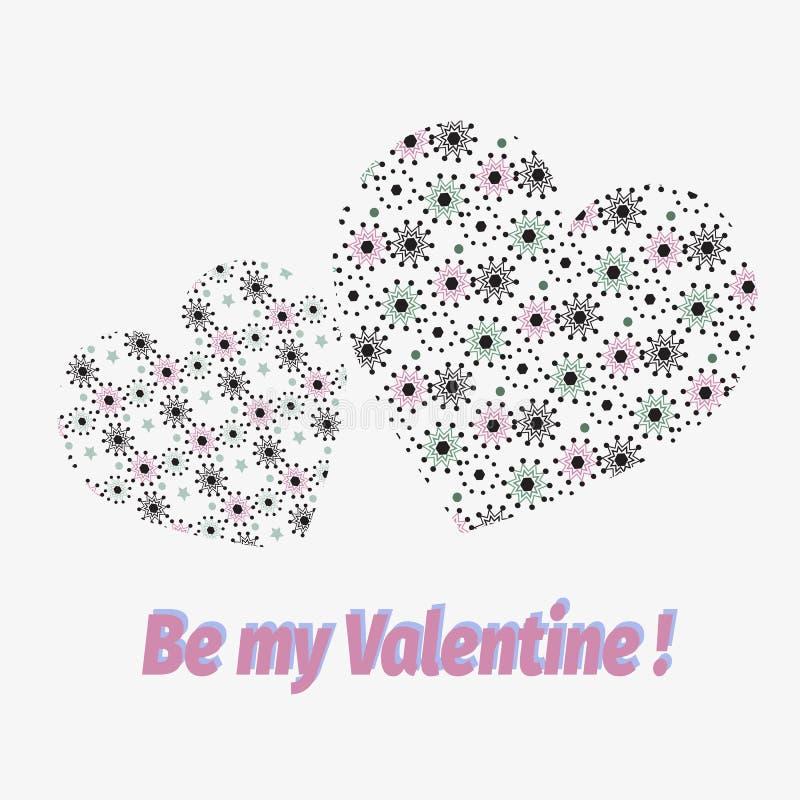 Sea mi tarjeta del día de San Valentín Valentine Day y vector libre illustration