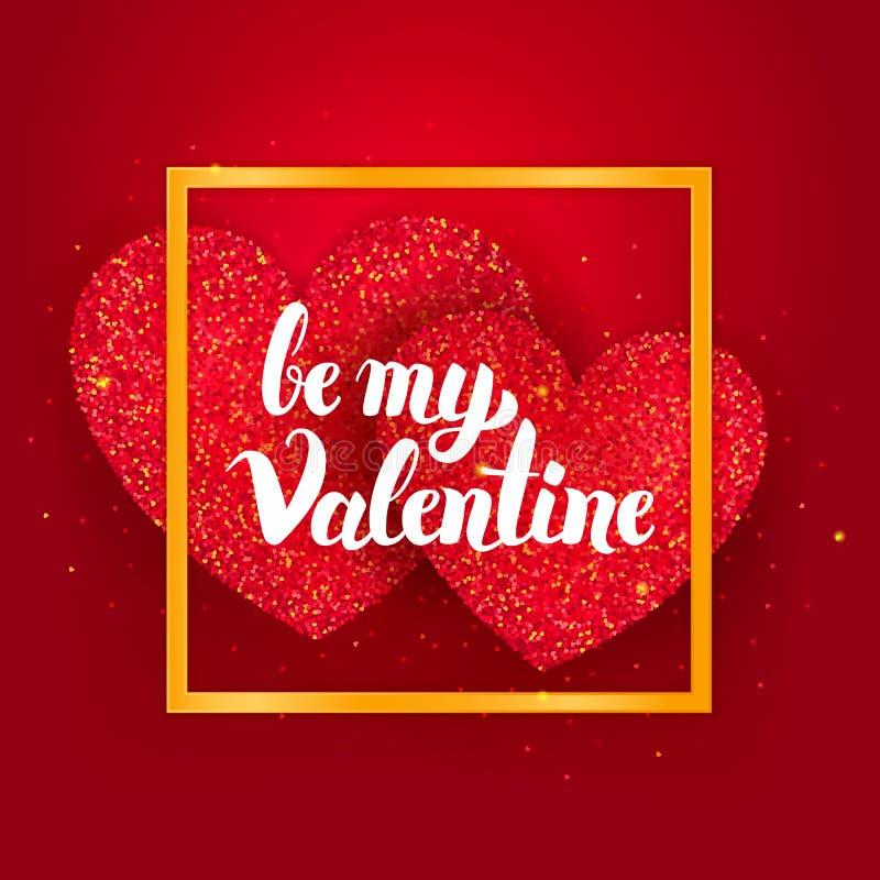 Sea mi Valentine Postcard stock de ilustración