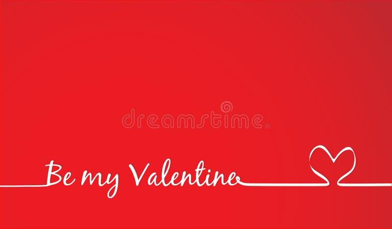 Sea mi Valentine Text - caligrafía hecha a mano ilustración del vector