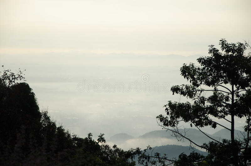 Sea of mist royalty free stock photography