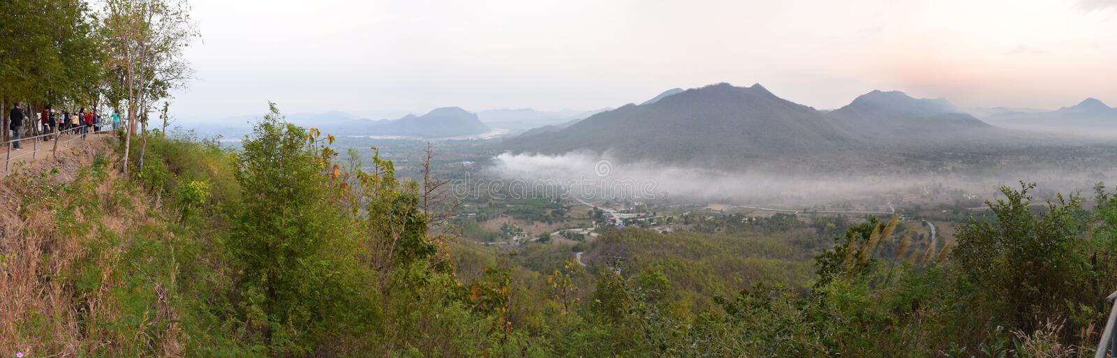 Sea of mist at phu tok , Chiang Kan district, Loei province,Thailand. Photo taken on February 27th, 2016 royalty free stock images
