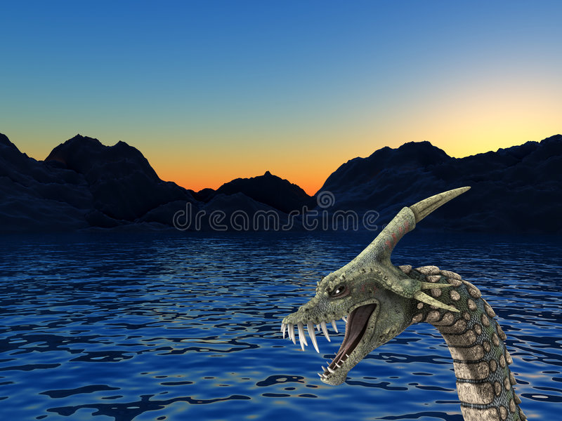 Download Sea Monster 2 stock illustration. Image of deadly, nasty - 4516627