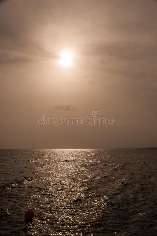 Download Sea with moon stock image. Image of horizon, waves, water - 28851483