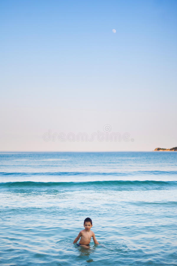 Download Sea and moon stock photo. Image of blue, moon, summer - 32309520