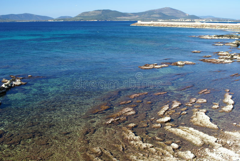 Sea near Alghero stock photos