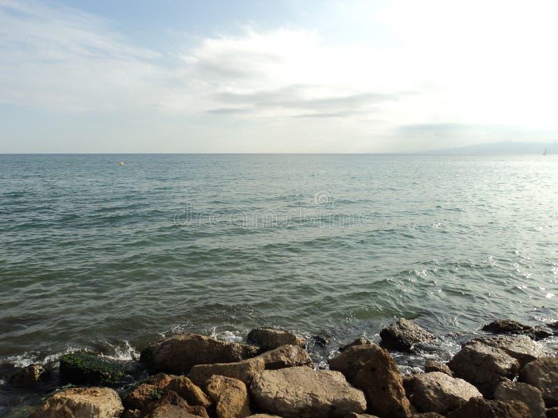 Sea near Barcelona royalty free stock photos
