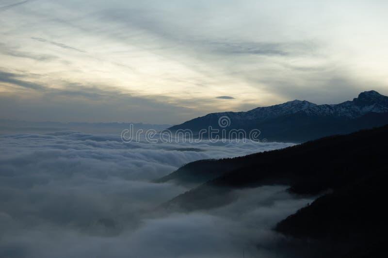 Mountain sea stock image