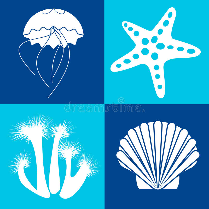 Sea objects & design elements royalty free stock image