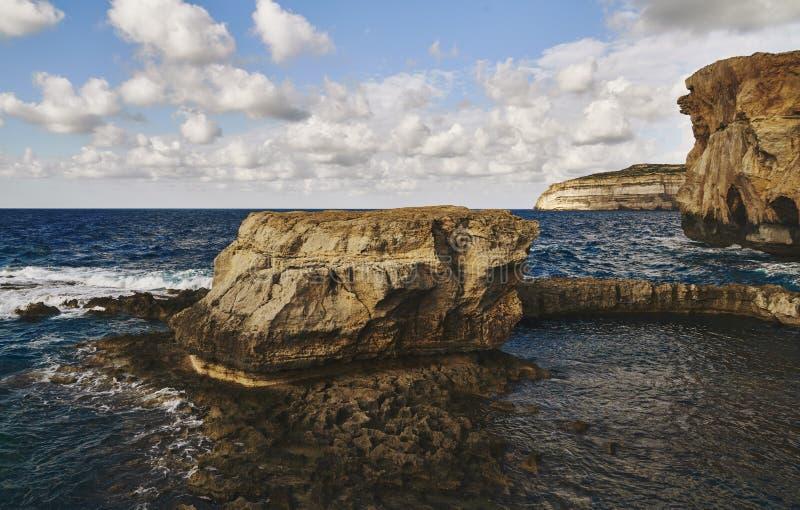 Rocks among the beautiful sea royalty free stock photography