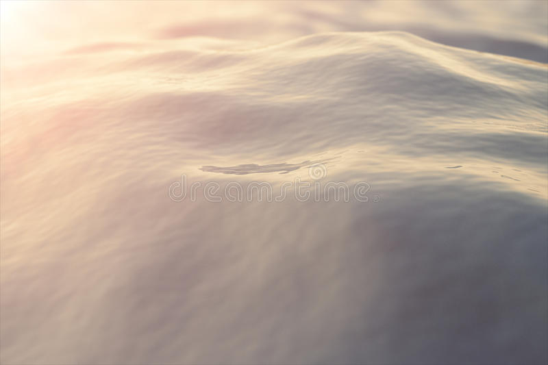Sea, ocean wave close-up sunset, low angle view, cross processing effect. Hard focus with selective focus. 3d rendering. Sea, ocean wave close-up sunset, low stock photos